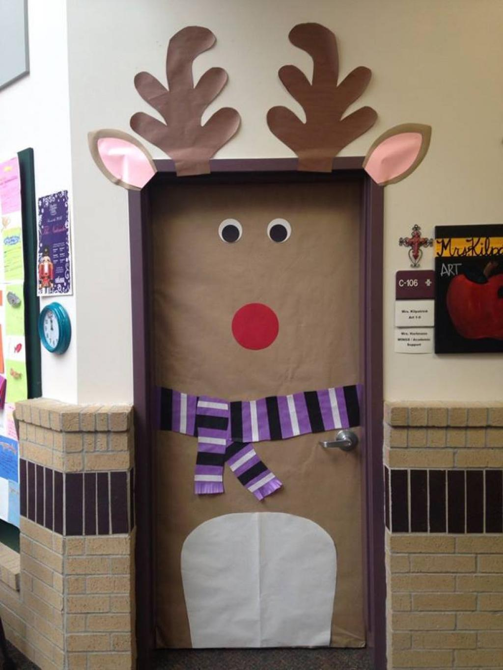 ~Twinkle Teaches~: 12 Winter and Christmas Door Decor Ideas
