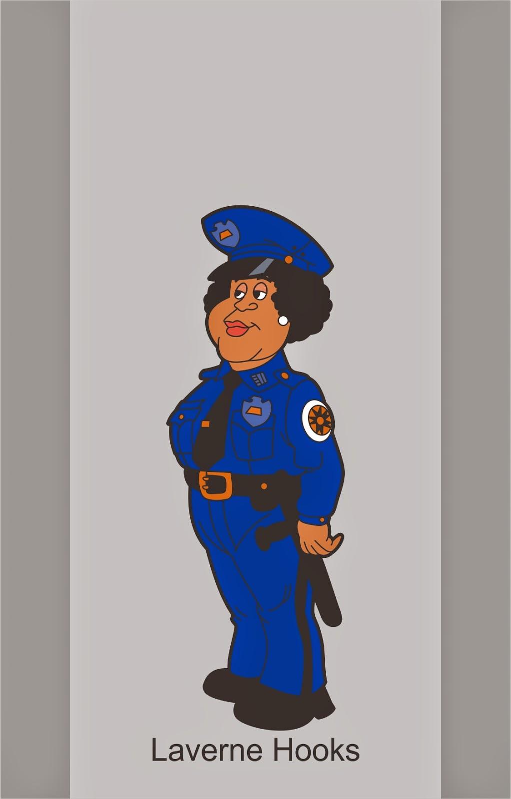 Hooks loucademia de polícia banco personagens