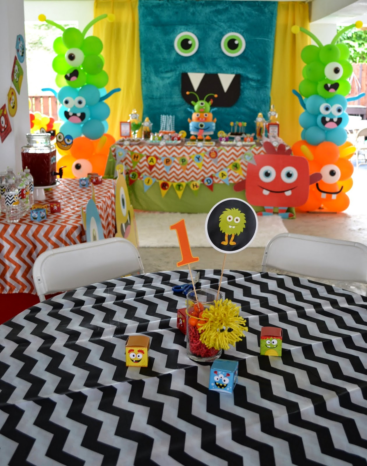 """Little Monster Halloween Birthday Party Invitations by hereifilessl.ga Baby, Toddler Little Monster Birthday Party Ideas: Decor, Food. Embellish your theme by sticking plastic googly eyes on party cups, topping off sandwiches with a pair of olive """"eyes,"""" or any of the other creative DIY decorations, favors, and food featured in this Little."""