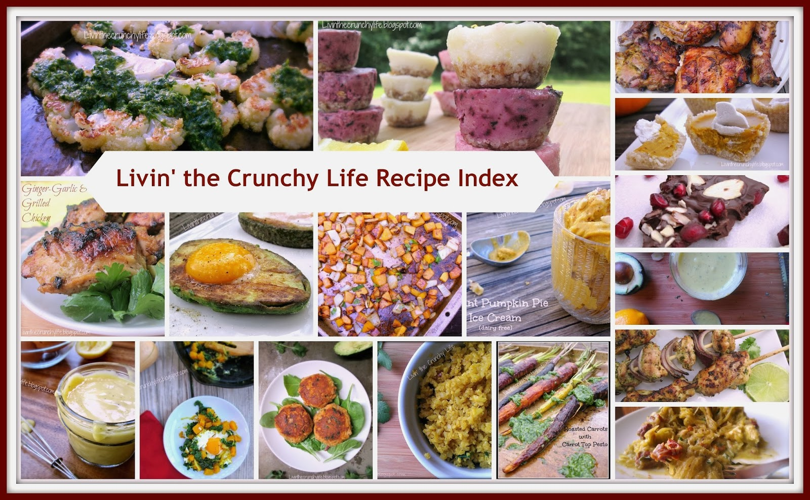 Livin the Crunchy Life Recipe Index (paleo, grain/gluten-free, mostly dairy free)