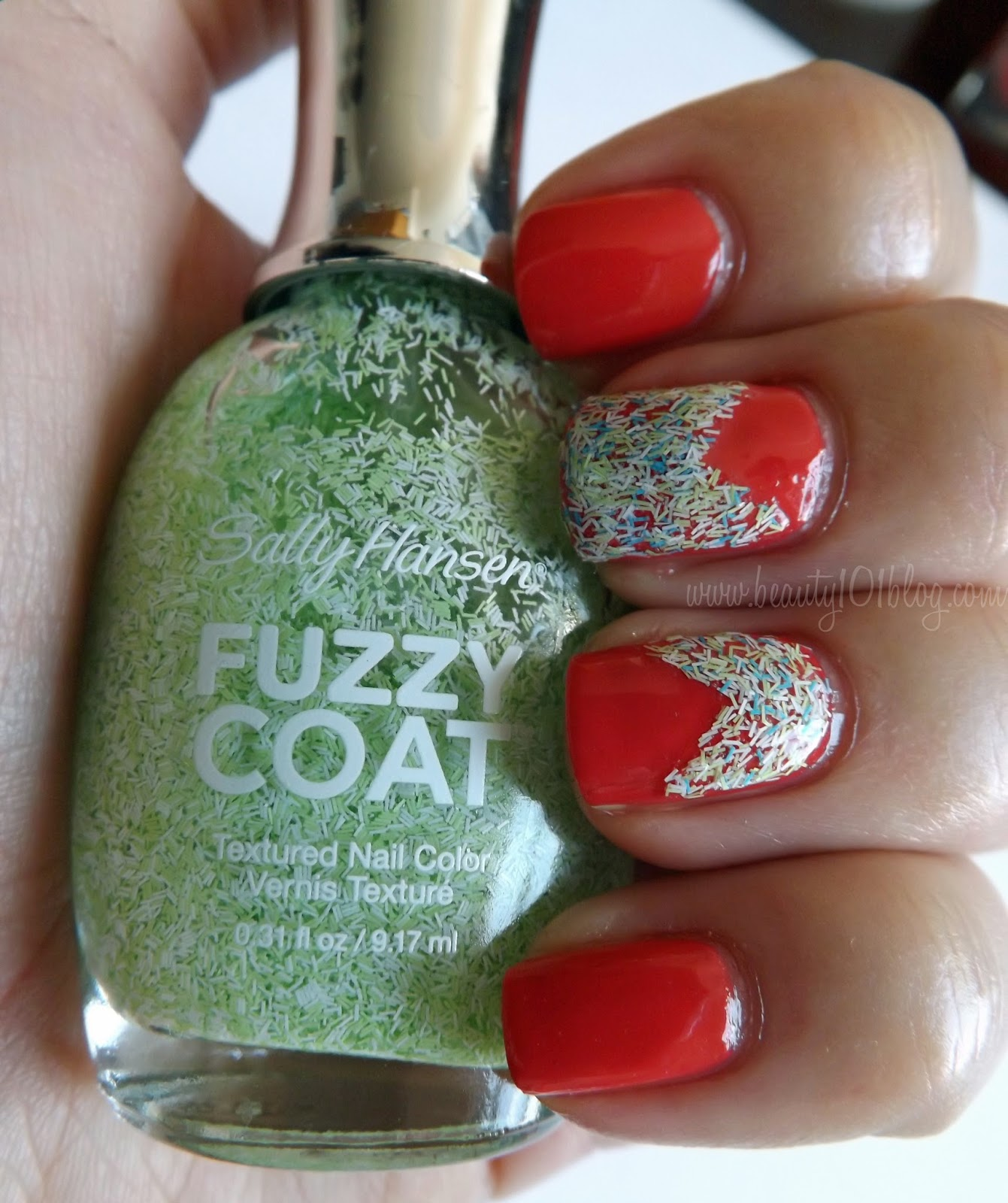 Sally Hansen Fuzzy Coat Color Block Nails Tutorial - Beauty 101