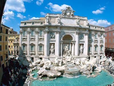 Free Fontana di Trevi Rome Italy Wallpapers.