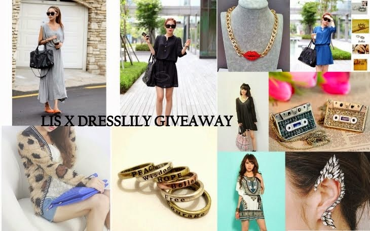 Super giveaway Dresslily X LIS for celebrating the 4 years birthday of the blog !