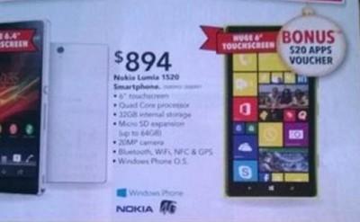 Belum Resmi Diluncurkan, Nokia Lumia 1520 Mulai Dipasarkan di Australia
