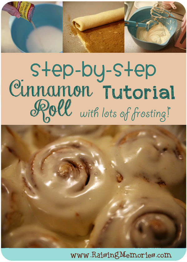 How to Make a Cinnamon Roll with lots of Frosting by www.RaisingMemories.com