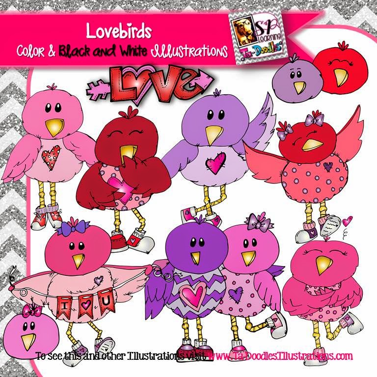 http://www.teacherspayteachers.com/Product/Valentines-Day-Love-Birds-Clip-Art-1641444