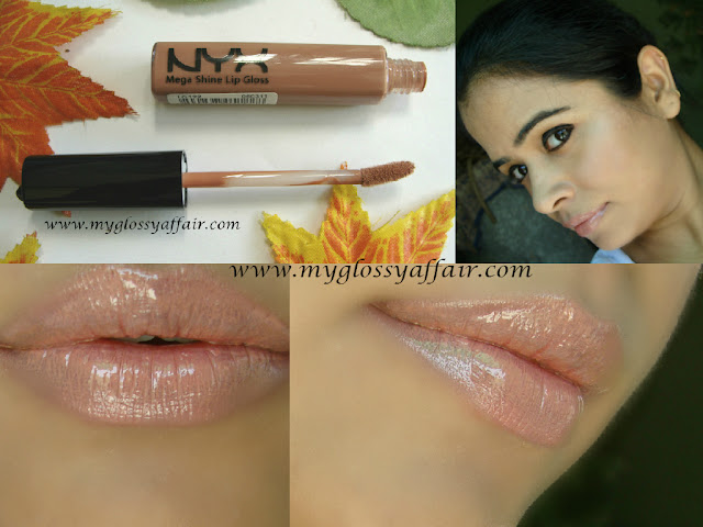 NYX Mega Shine Lip Gloss in Natural - Review and Swatches