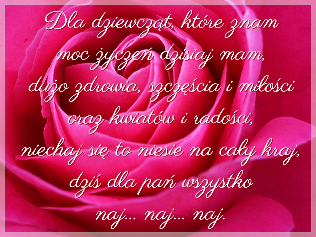 wiersze na dzień kobiet Kraków