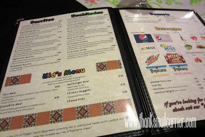 El Burrito Loco kids menu