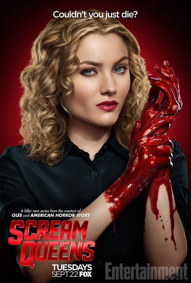 Pósters con los personajes de 'Scream Queens'
