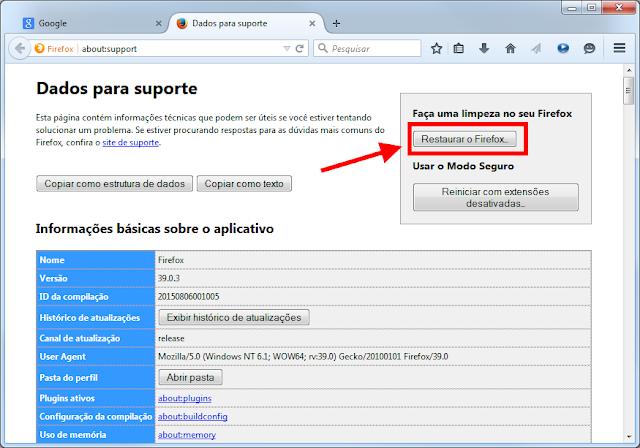 Firefox - Restaurar