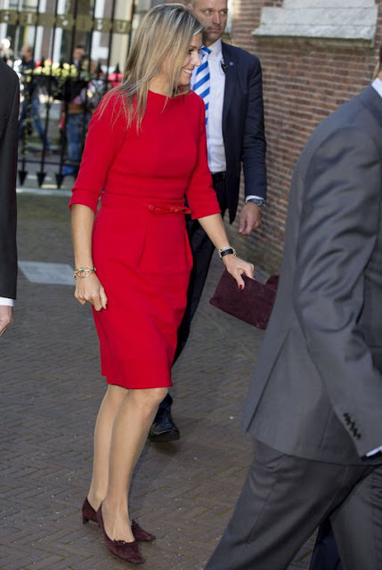 King Willem-Alexander of The Netherlands and Queen Maxima of The Netherlands attends the symposium about 'China in The Netherlands' at the University of Leiden