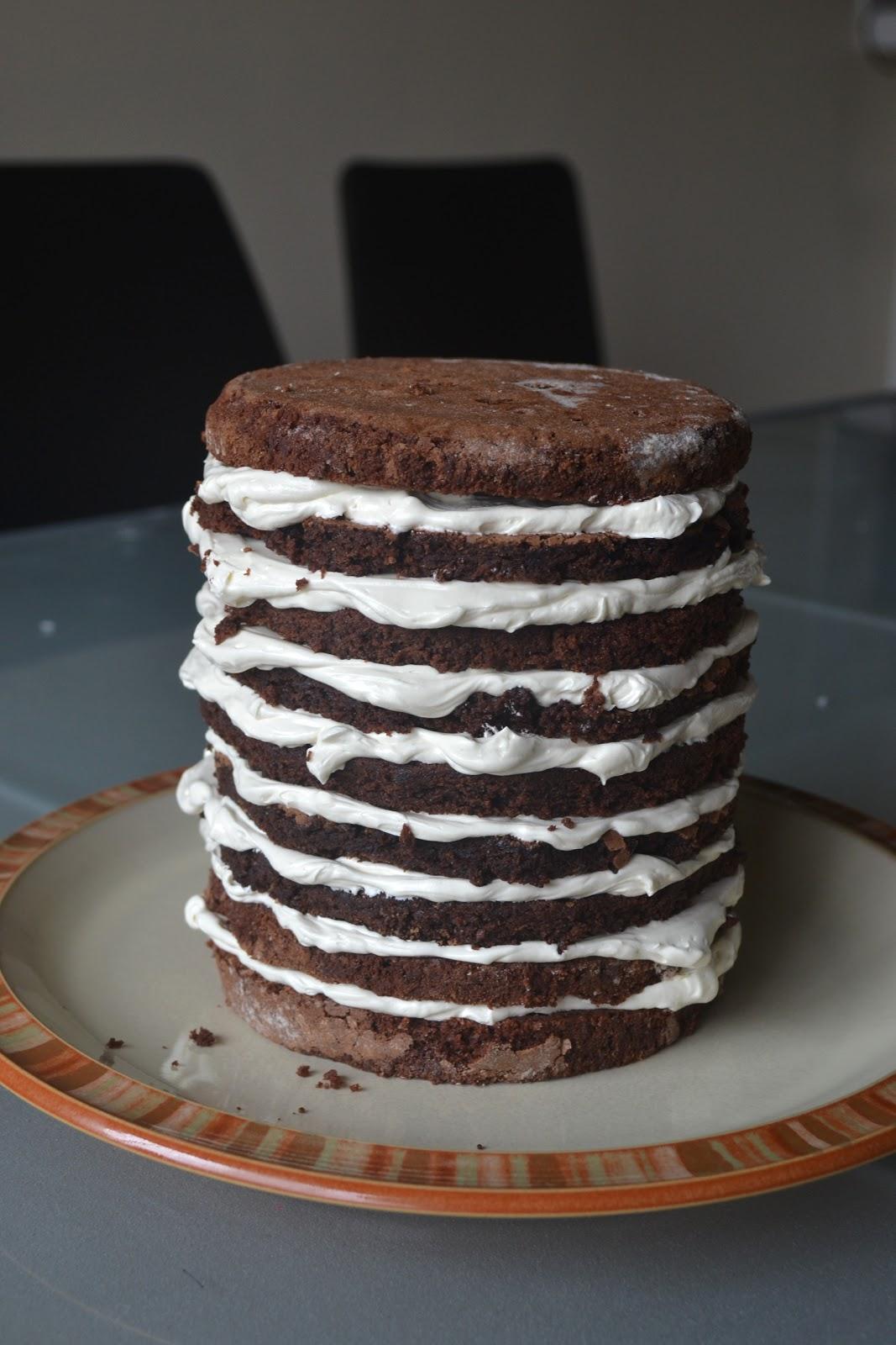 CakePunch: Chocolate Mochi Cake with Vanilla Buttercream