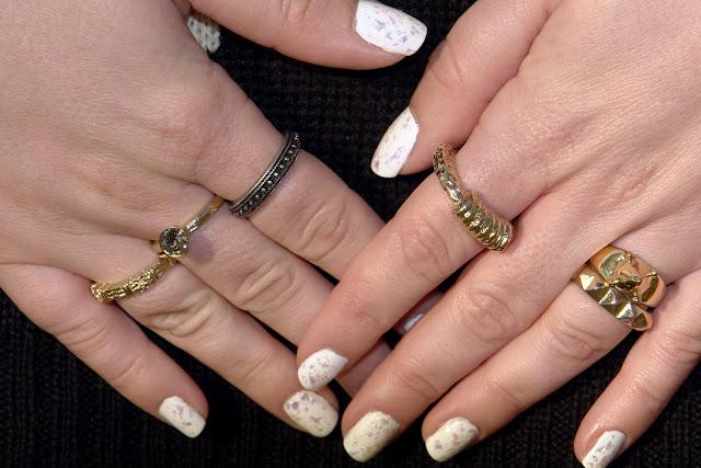 models own snowflakes ASOS rings nails