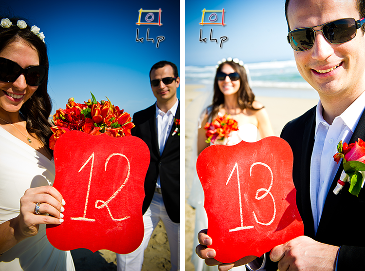 A fantastic idea for wedding day's reception table numbers