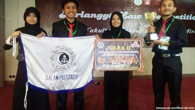 KSHI FH Undip Juara LKTI Airlangga Competition