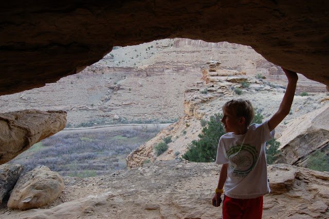 Freemont Indian Cliff-Side Cavern with a Great View of Nine Mile Canyon Utah