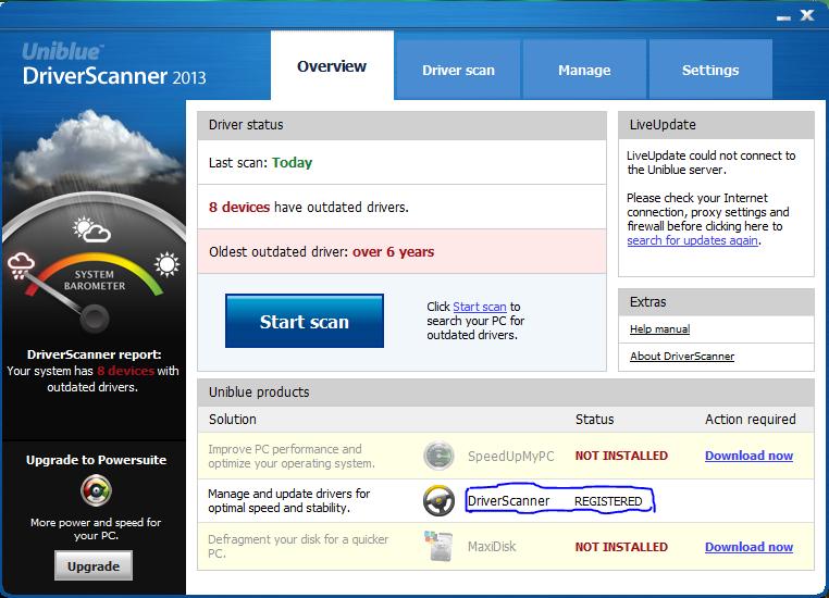 Ключи для Uniblue DriverScanner 2013: Driverscanner 2013 серийный номер от