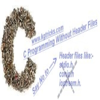 Learn how can you make a c program without the Header File