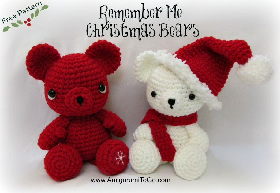 Amigurumi I To Go : Christmas Bears Hat and Scarf Pattern ~ Amigurumi To Go
