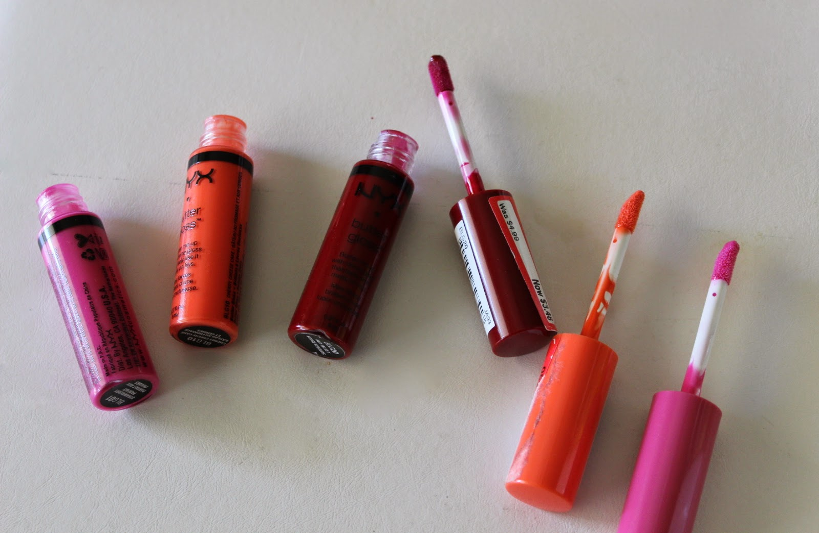 nyx lip butterglosses lippies