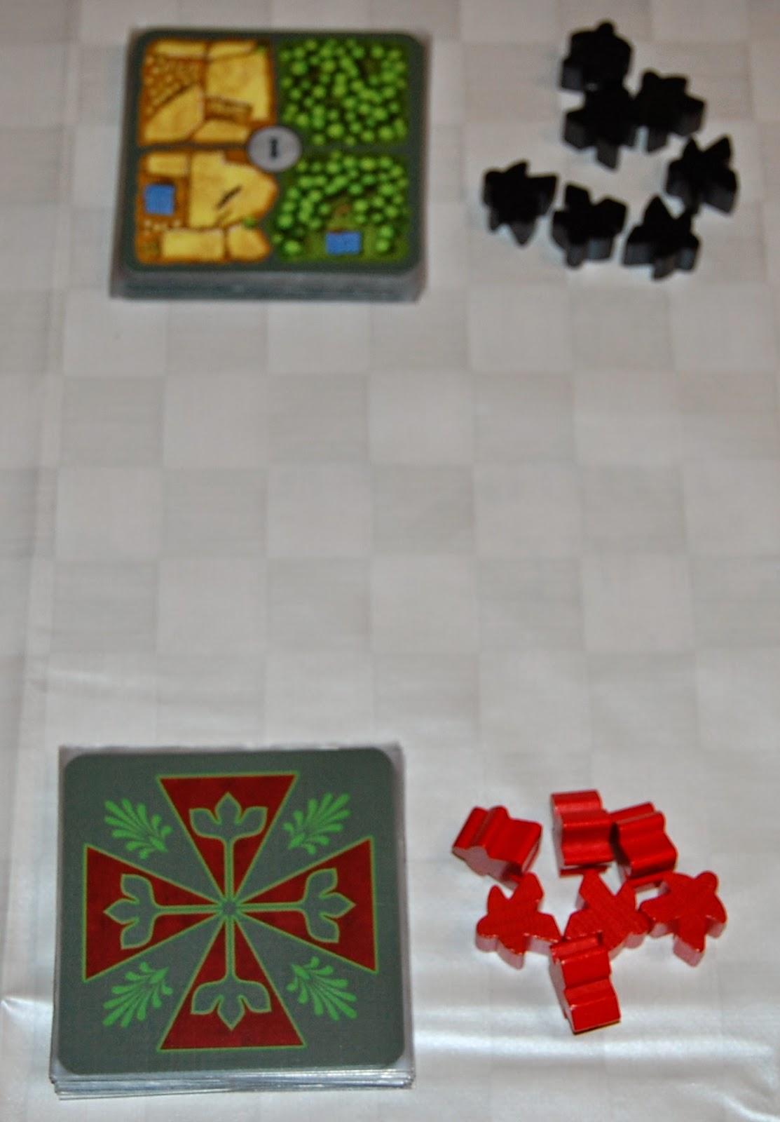 Preparación de la partida para 2 jugadores