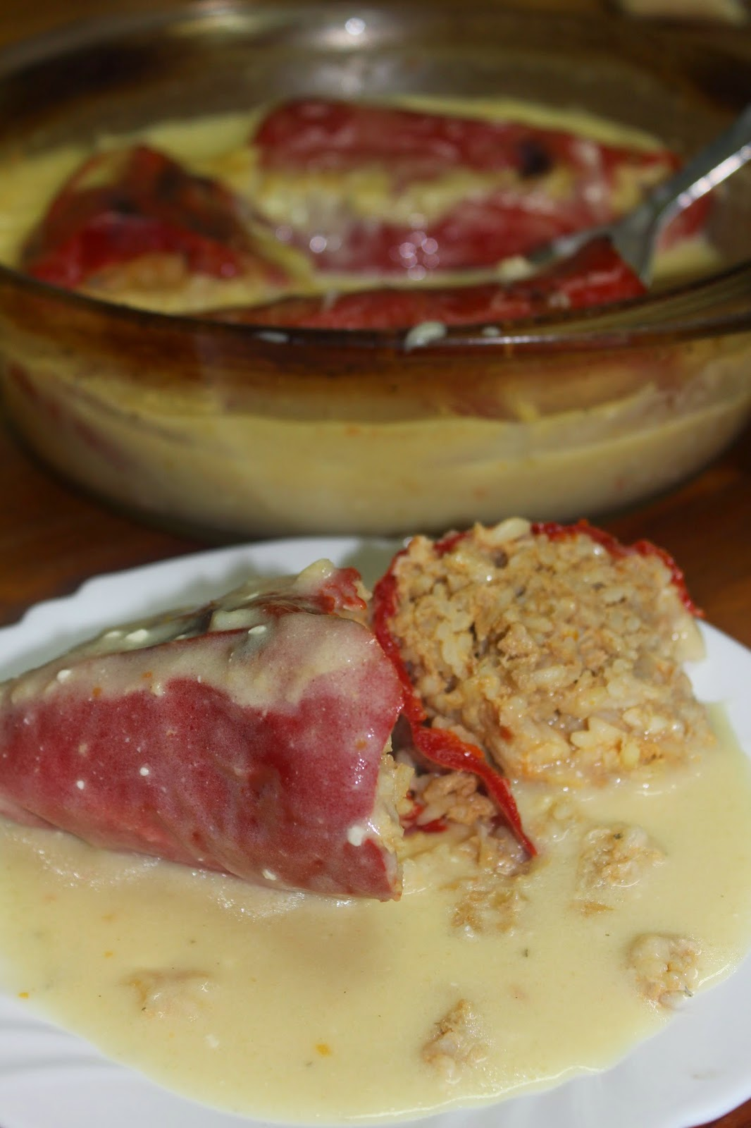 Punjene paprike u belom sosu