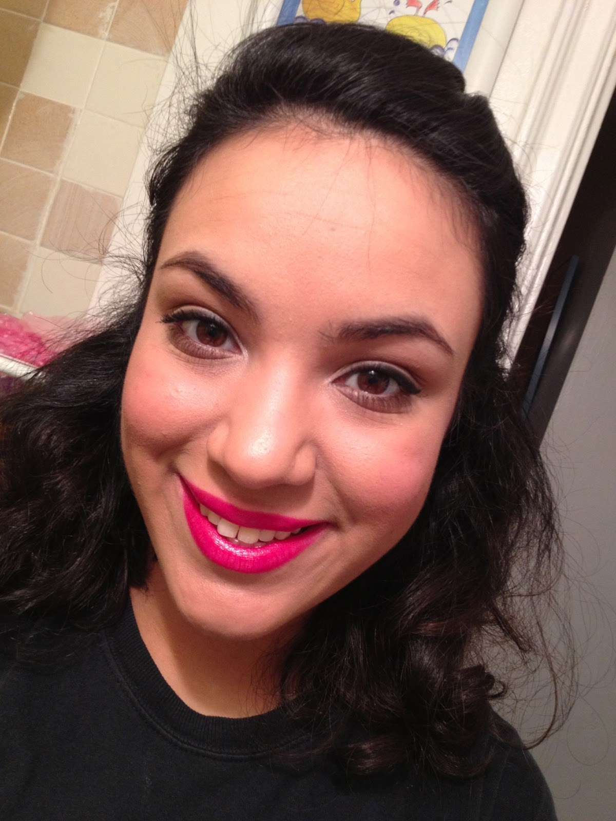 Valentines Day Simple Make Up Tutorial Bright Pink Lips