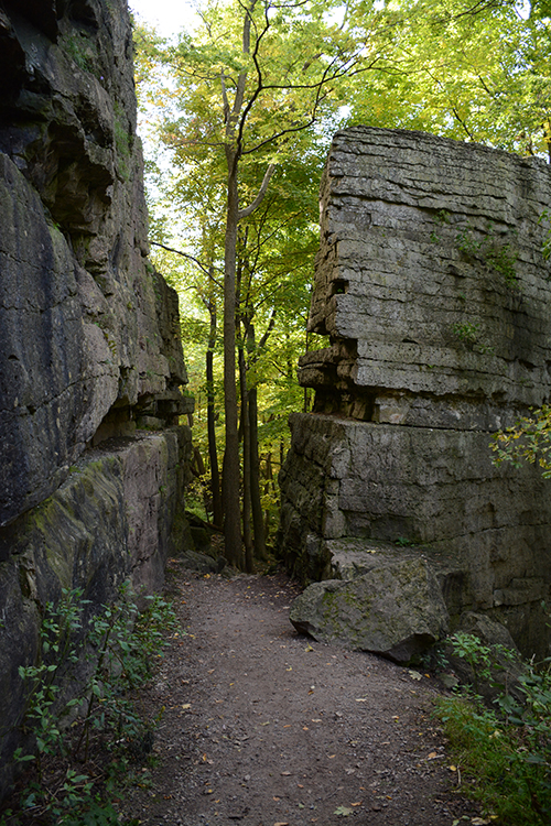 Rock formations; High Cliff State Park