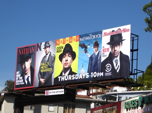 Nathan For You season 3 The Blacklist parody billboard