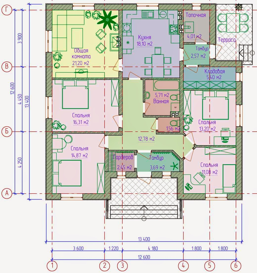 Одноэтажные дома 10 на 12 фото домов 95