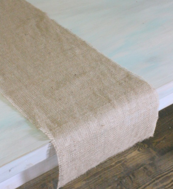 Nice First Things First, You Need A Table Runner. I Make Mine From Burlap, Just  By Stitching The Edges With Thread The Same Color And Then Pulling Off The  Extra ...