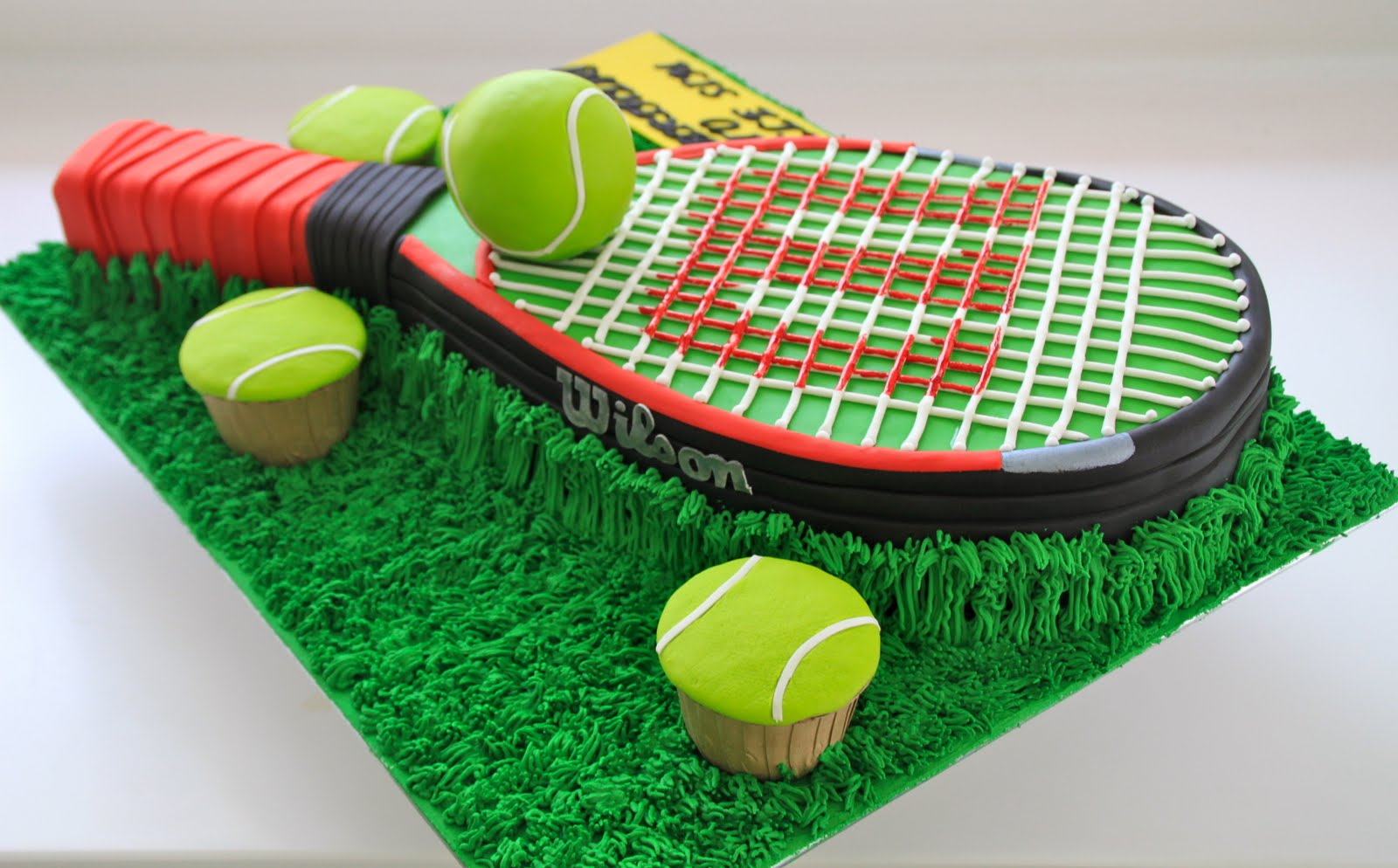 Celebrate with Cake Tennis Racket Cake