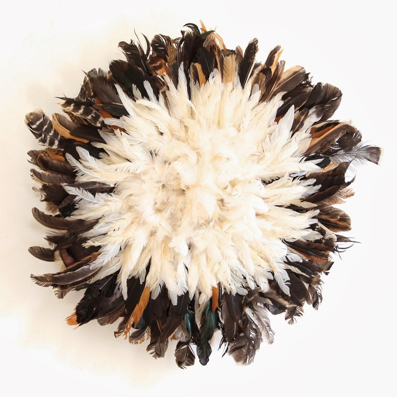 Small Black & White Juju Hat KRONBALI