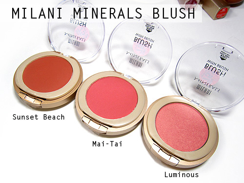 milani mineral blushes