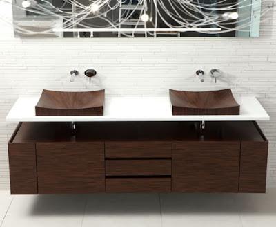 Wooden sinks design