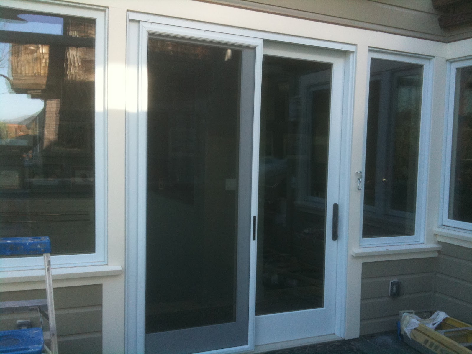 1200 #344C63  Traditions Steel Patio Door Patio Doors House Www Thermatru Com image Aluminum Clad Patio Doors 47231600