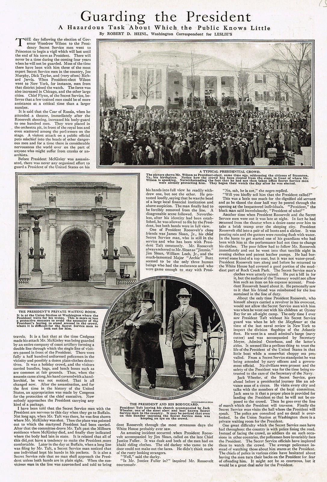 1915 vintage Secret Service article
