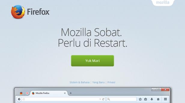 Mengembalikan Mozilla seperti semula terbaru