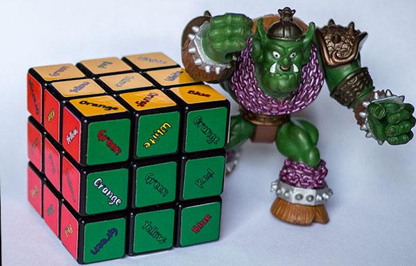 Rubik 3x3x3 con 3 soluciones distintas