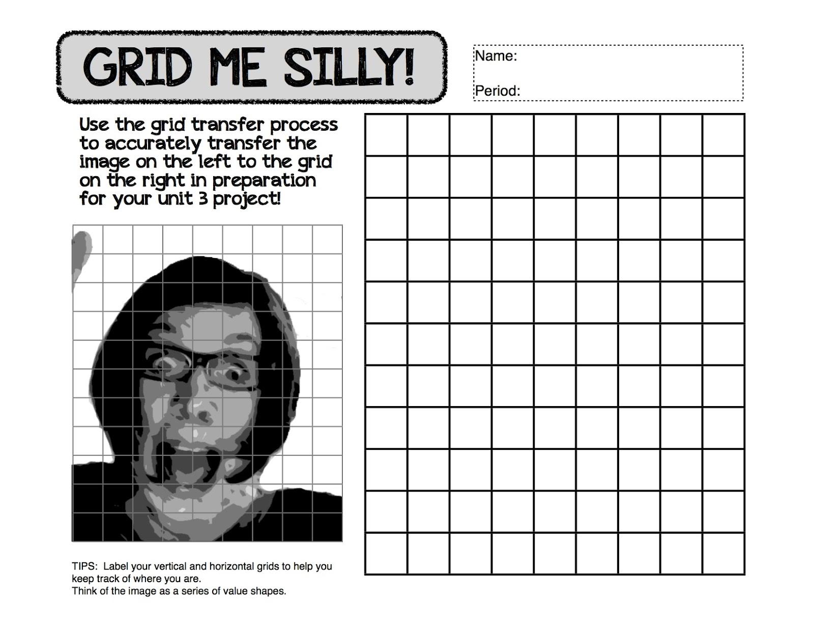 Project ARTADAY Lesson Value Self Portraits – Self Portrait Worksheet