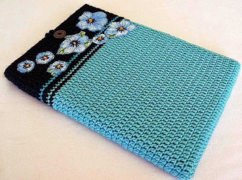 Porta laptop al crochet varios modelos para inspirarte - Notebook con porta parallela ...