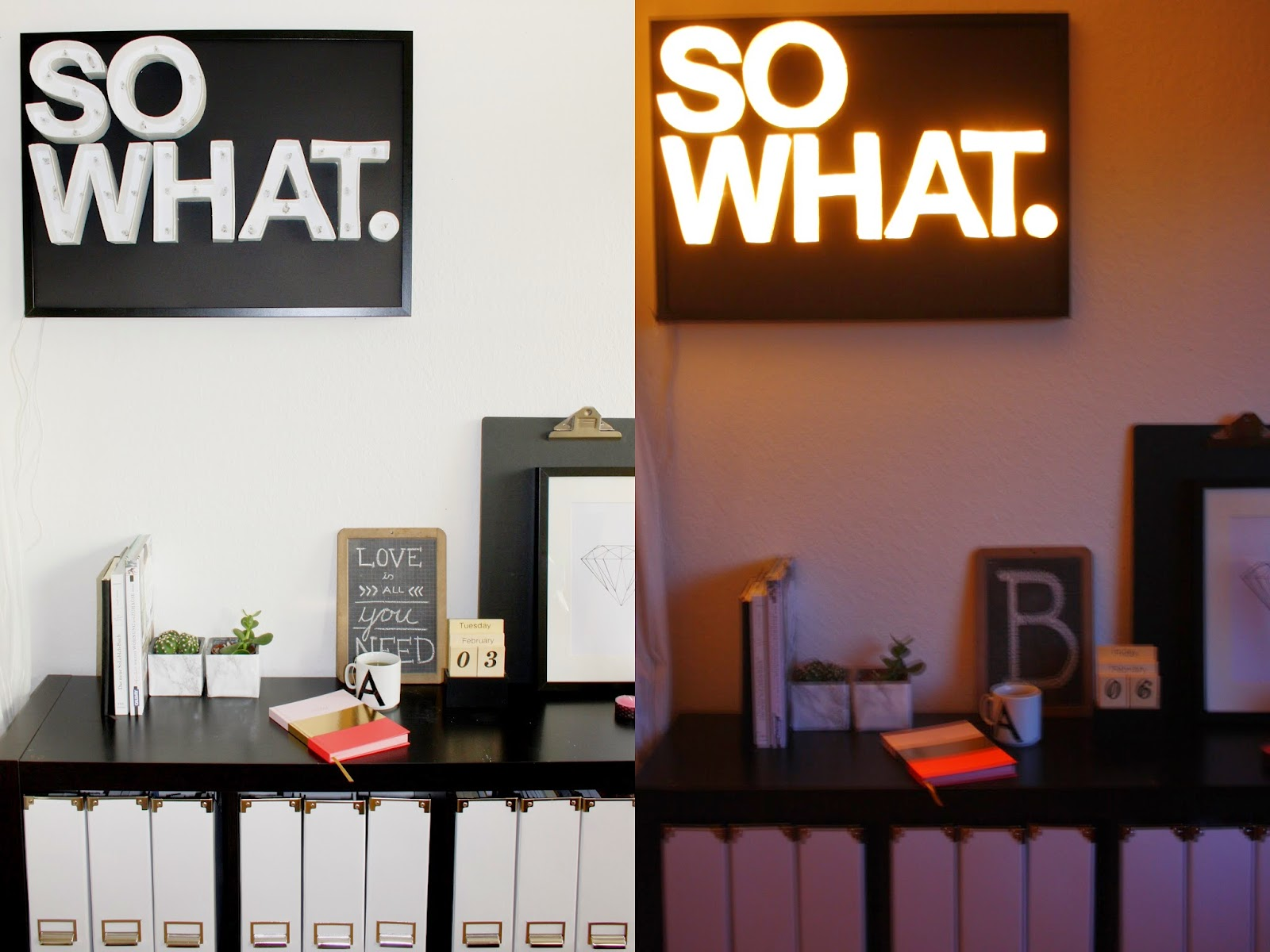 wohnvorstellungen wohnen deko und diy leuchtbuchstaben diy. Black Bedroom Furniture Sets. Home Design Ideas