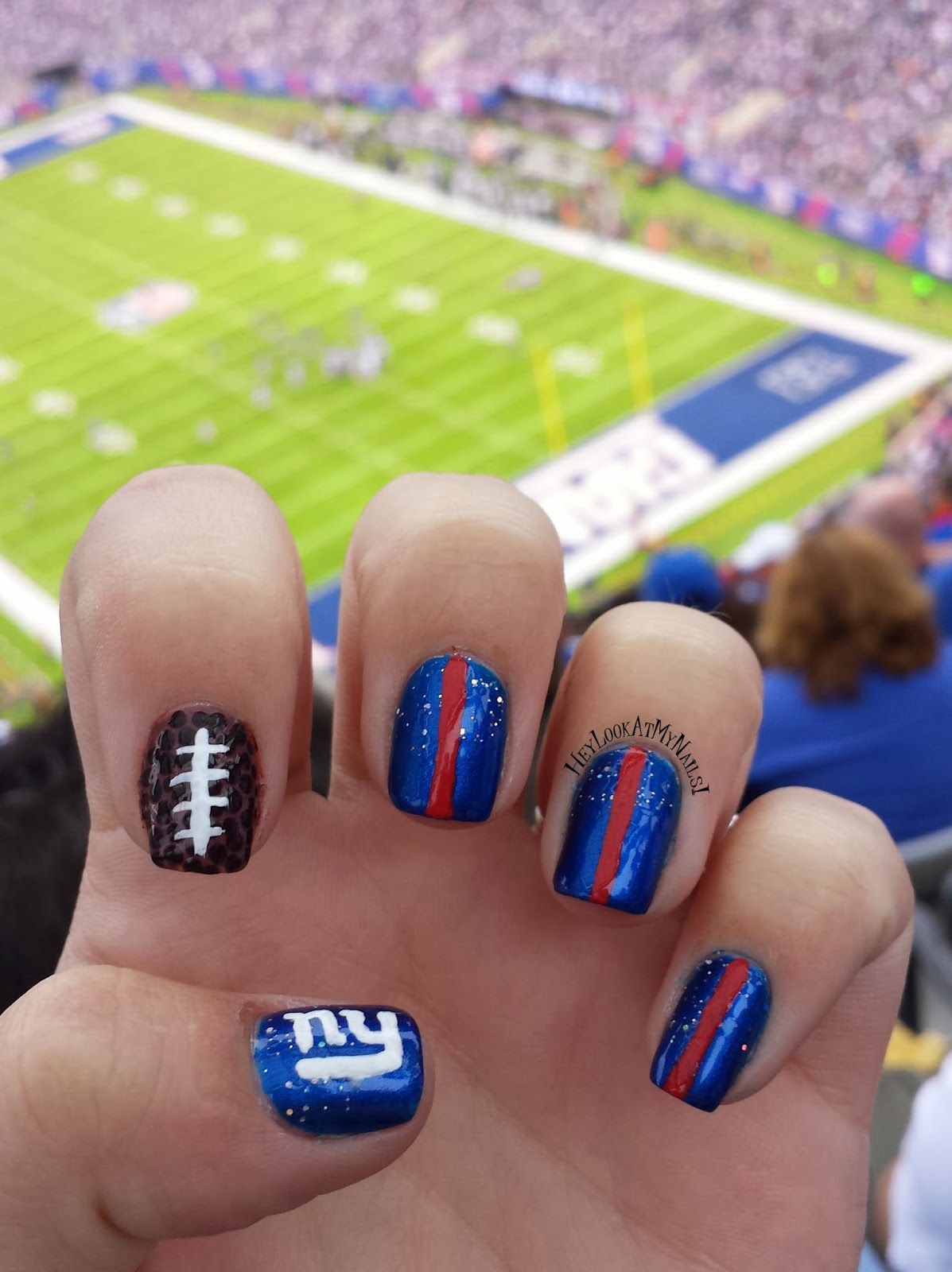 Hey, Look At My Nails!: New York Giants Nail Art