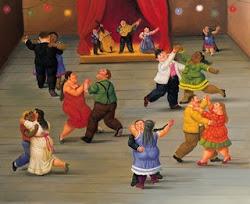 Maravilhoso este baile do Botero ...