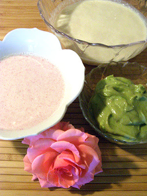 Selection of Masks and Creams with Rose Blossom