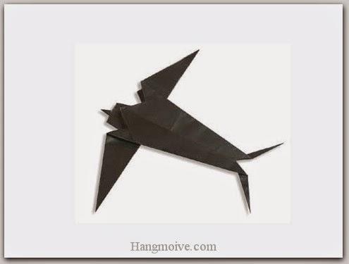Cách gấp, xếp con chim én bằng giấy origami - Video hướng dẫn xếp hình Động vật - How to fold a swallow