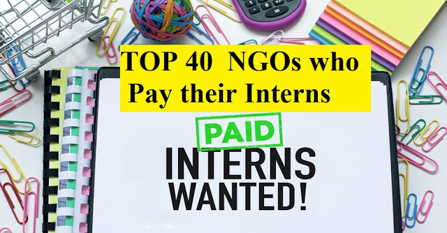 TOP 40 #NGOs who #Pay their #Interns