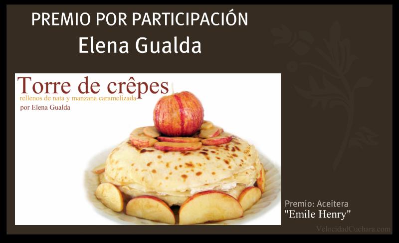Premio por participación para Elena Gualda - VelocidadCuchara.com