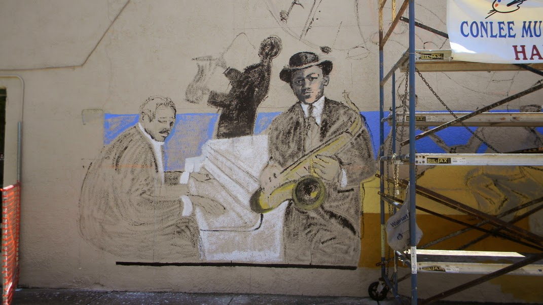 A painting a day week or month nina mateyunas day 8 for Duke ellington mural